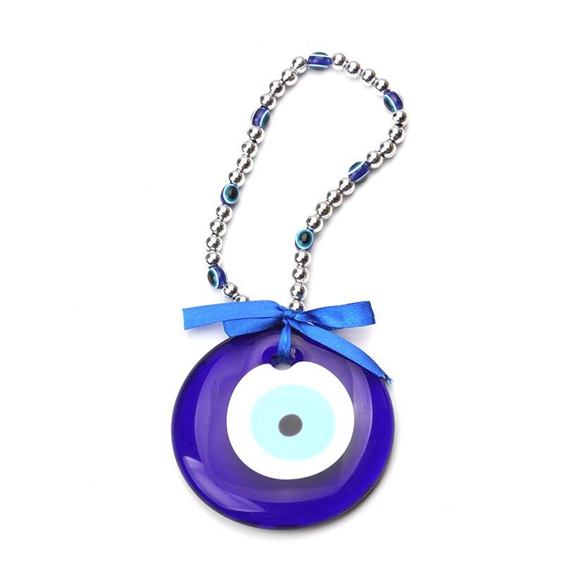 Turkey Blue Evil Eye Acrylic Necklace 87mm Glass Pendant Jewelry Women DIY Car Keychain 25cm As Luckly Gift