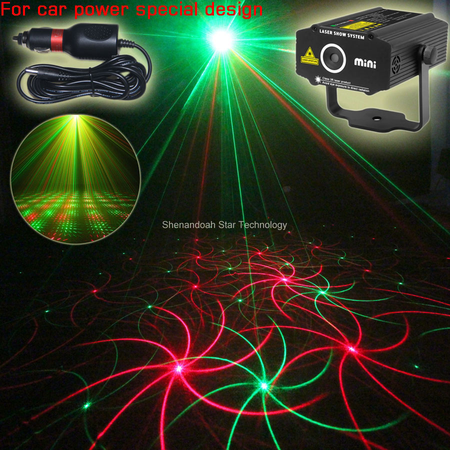 ᗛCar Used Plug RG Moving Whirlwind Laser Projector Patterns Gobo - Car laser light show