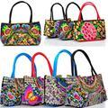 Китайская Национальная ткань вышивка сумки Женщины double faced цветок вышитые одно плечо сумка Сумки сумки