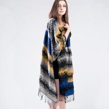 Winter New Hot Tartan Scarf Desigual Gradient Color Cuadros New Luxury Brand Unisex Blanket Shawls Pashmina