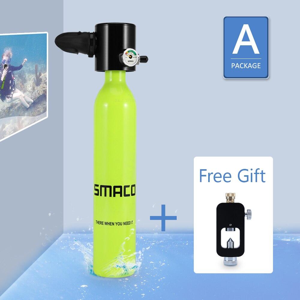 Smaco équipement de réservoir de plongée sous-marine, Mini cylindre de plongée sous-marine avec capacité de 10 minutes, matériau résistant à la pression et à la Corrosion