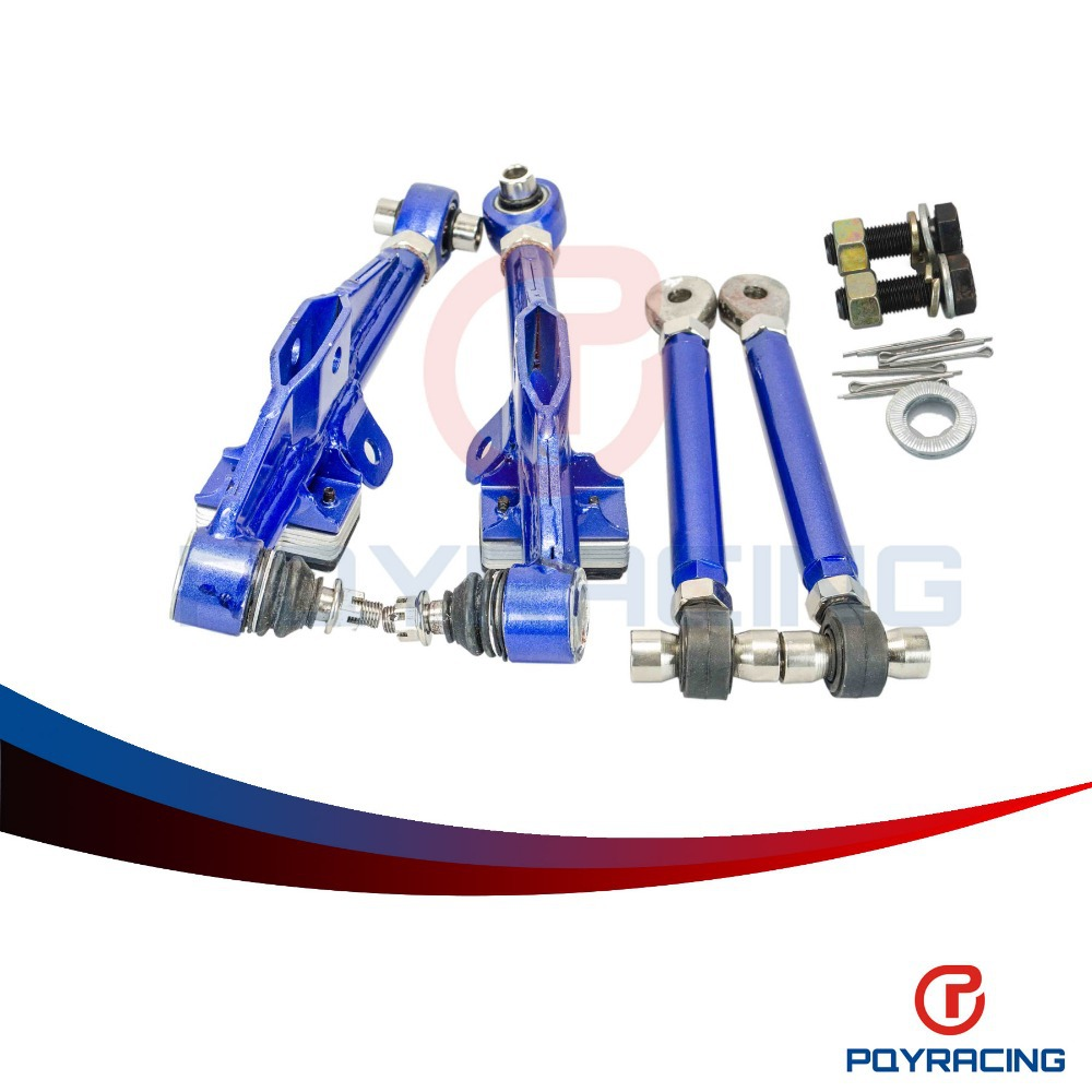 PQY RACING- FRONT LOWER CONTROL ARM For NISSAN S13 Adj Front Lower Control Arm - Blue Color PQY9831 front lower control arm 2pc