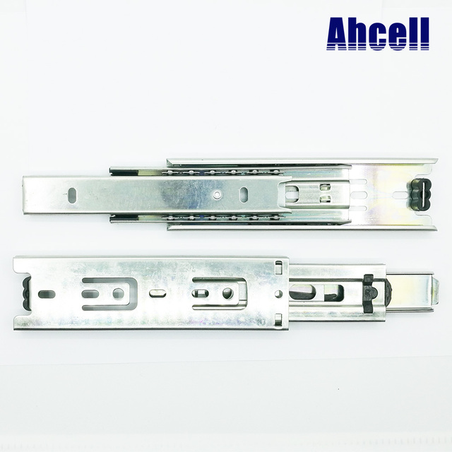 1 pair 8 inch 200mm Smooth Quiet Soft Close Steel Ball Bearing Desk Guide Linear Rail Telescopic Cabinet Drawer Slide