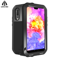 Love Mei Case For Huawei P20 P20 Pro Metal Armor Shockproof Case For Huawei P20 P20 Pro Aluminum Waterproof Cover Outdoor Coque