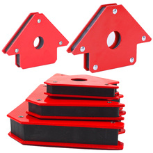 Strong Magnet 9 x 9.3cm Soldering Locator  Welding Magnetic Holder 3 Angle Arrow Welder Positioner Power Tool Accessories mini triangle welding positioner 4 pcs set 9lb magnetic fixed angle soldering locator tools without switch welding accessories