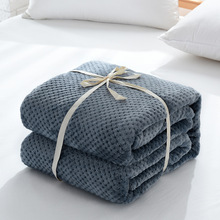 Flannel Bed Blanket Soft Warm Fleece Blanket Mesh Fuzzy Plush Lightweight Decorative Solid Blankets All Seasons for Bed Couch цена