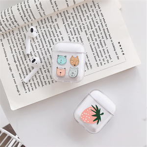 Image 5 - Case for Airpods Cute Earphone Case For AirPods 1 2 Cartoon Wireless airpods Accessories for Airpods Transparent Hard PC Cover
