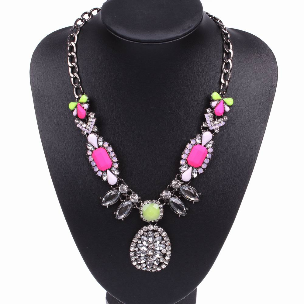 aliexpress buy fashion black chain resin rhinestone