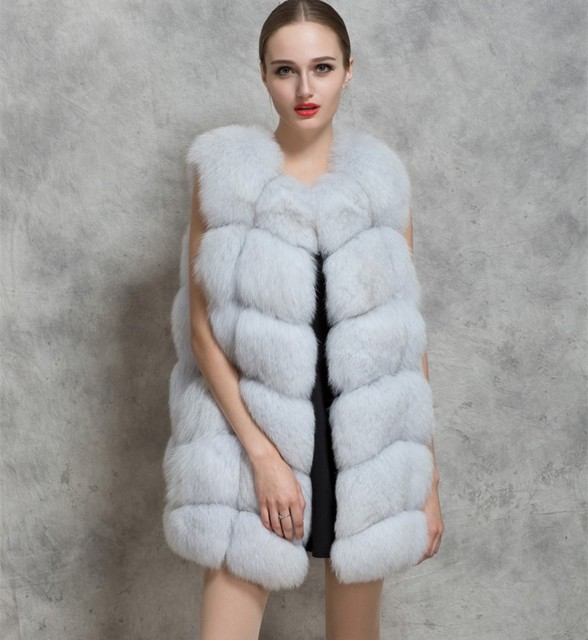 new arrival winter women o neck luxury wholesale faux fox fur vest