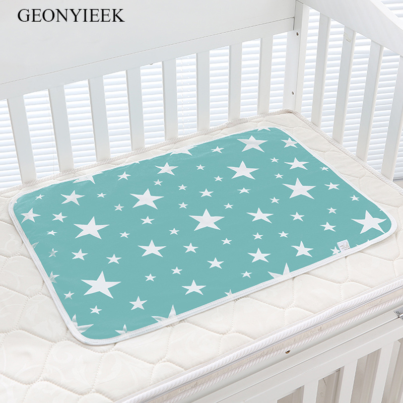 Baby Nappy Changing Pad Cotton Ecologic Diaper Changing Table Cartoon Baby Waterproof Mattress Bed Sheet Infant Change Mat Cover infant waterproof diaper washable baby mattress urine mat color cotton baby changing pad baby tpu waterproof sheet mattress