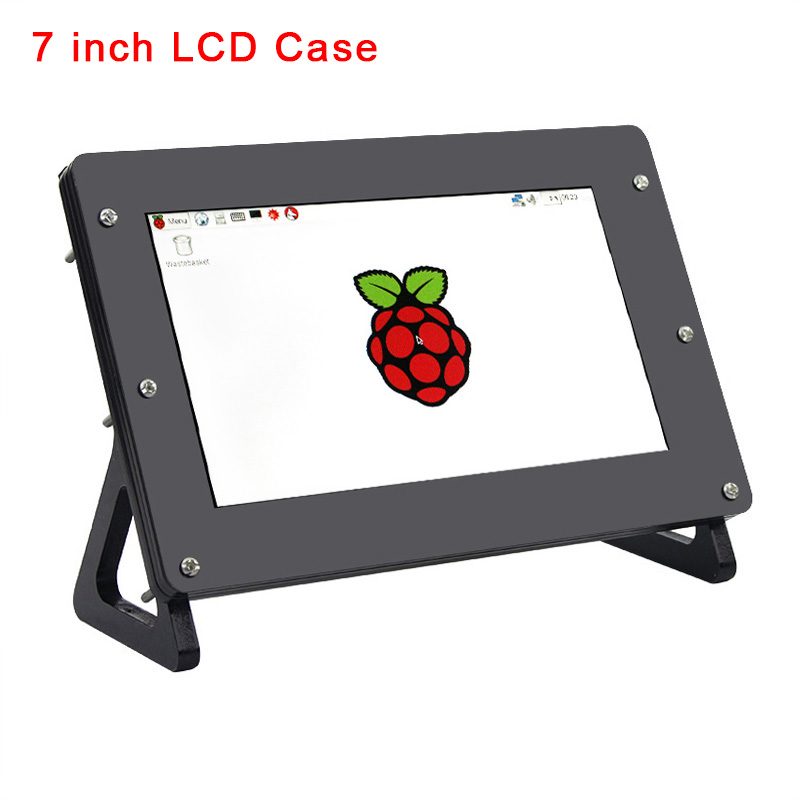 7 Inch LCD Holder Screen Case For Raspberry Pi Display Acrylic Bracket For RPI Monitor Support Raspberry Pi 4 Model B / 3B+ / 3B