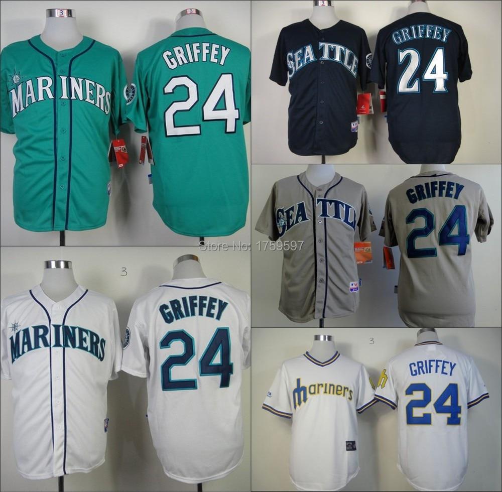 24 Ken Griffey Jr Seattle Mariners Throwback Cheap ...