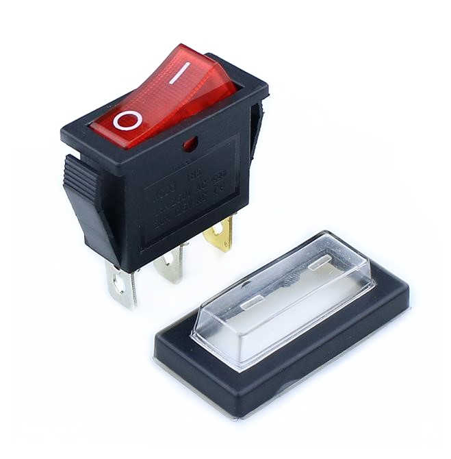 1 Pcs KCD3 Power Switch 15A/20A 125 V/250 V 3 Pin Rocker Switch Putih Jelas silikon Tahan Air Melindungi Cover Persegi Panjang