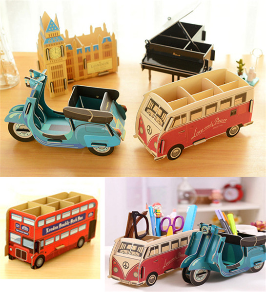 1 Pcs Cute Multifunction Wood DIY Pen Holder Pens Stand Pencil Holders For  Desk Office Accessories Supplies Stationery In Pen Holders From Office U0026  School ...