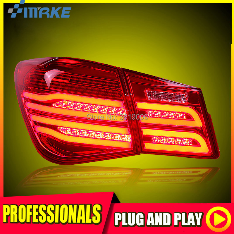 smRKE For Chevrolet Cruze 09-13 LED Tail Light Rear Lamp LED DRL+Brake+Park+Signal Stop Car Styling qdiy pc d008q atx personalized double layer acrylic transparent computer case computer frame with outer cover