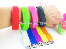 100% da capacidade real de Silicone Pulseira Wrist Band 16 GB 16 GB 8 GB 4 GB USB 2.0 USB Flash Drive Pen Drive Vara U Disk Pendrives