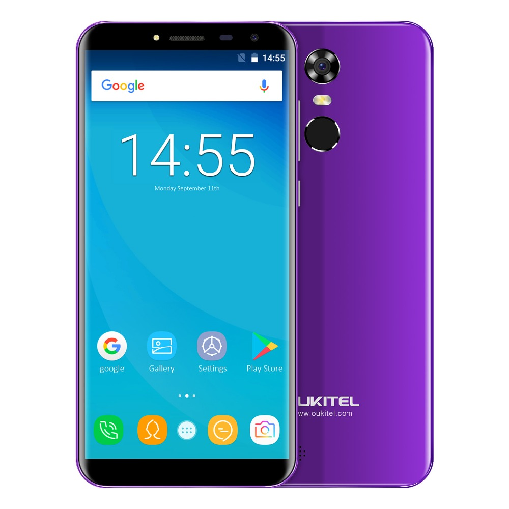 "Oukitel C8 5.5"" 18:9 Infinity Display Android 7.0 Mtk6580a Quad Core Smartphone 2g Ram 16g Rom 3000mah Fingerprint Mobile Phone #5"