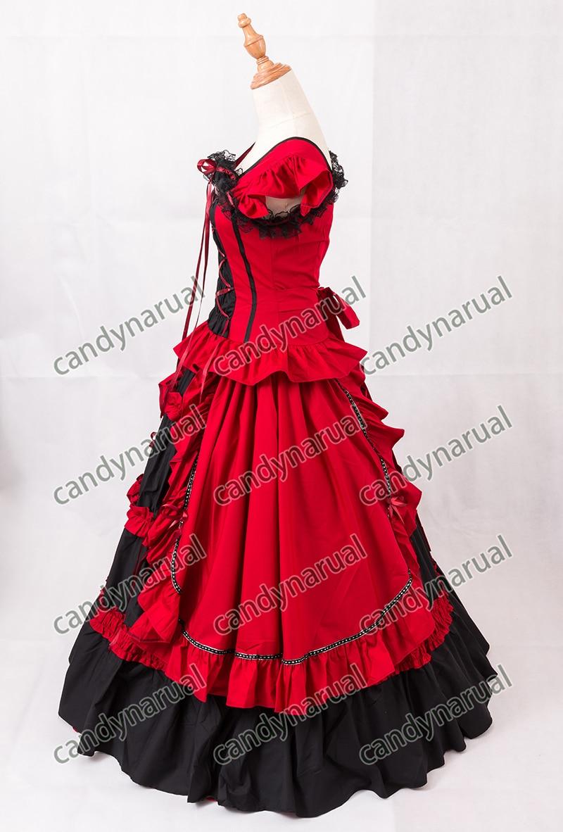 ZNCJ Sleeveless Red Lolita Dress Anime Halloween Party Ball Gown ...