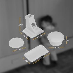 Image 5 - 10 قفل 2 مفتاح المغناطيسي قفل أمان الأطفال خزانة مصفحة الطفل درج قفل الباب خزانة طفل غير مرئية أقفال الأمن الرضع