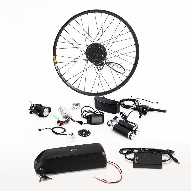 Nuovo Arrivo Bicicletta Elettrica Kit 36 v 8/10/13AH Bollitore Batteria Ebike Kit di Conversione Con 350 w motore bicicleta della bici di trasporto libero
