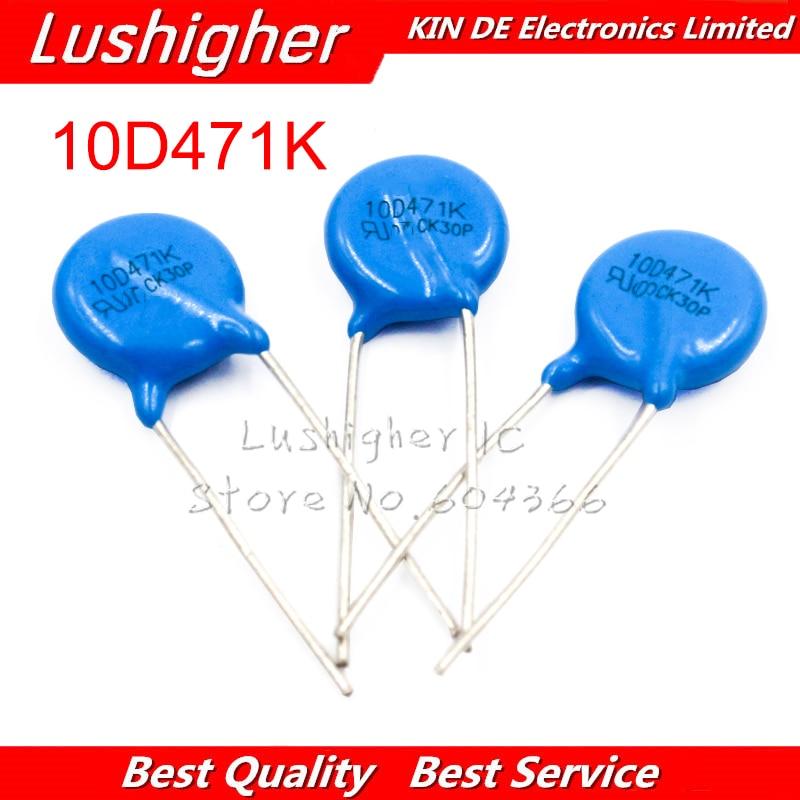 10pcs Varistor 10D471K 470V Piezoresistor 10D471