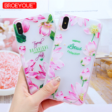 hot deal buy case for iphone xs max xr xs floral patterned matte silicone ultra thin case for iphone xs max xr xs tpu soft 3d relife covers