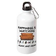 Happiness está olhando tv mostra amigos garrafa de água esporte com mosquetão para passeio ciclismo garrafa de presente festa criativa 17oz