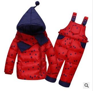 2017 neue Kinder Jungen Mädchen Winter Warme Daunenjacke Anzug Set - Kinderkleidung - Foto 4