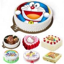 Съедобный мультфильм риса вафельный бумажный Топпер на торт украшение легко использовать для 4-10 дюймов торт, печатная рисовая бумага только, 1 лист
