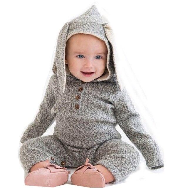 59e0ed1c7 Ropa del bebé del invierno gruesa niños niñas mamelucos recién nacido ropa  bebé modelo ...