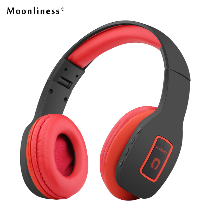 Moonliness Wireless Headphones Bluetooth Sports Running Headsets Stereo HiFi Earphones with Mic Fone De Ouvido for Smartphone bluetooth auriculares audifonos headphones gaming headsets wireless earphones fone de ouvido support fm radio micro sd card