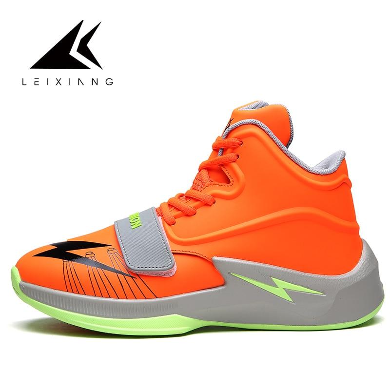 купить 2018 Men Basketball Shoes Breathable Outdoor Sneakers Athletic Training Cushioning Non-slip Ankle Sport Boots Baketball по цене 1790.84 рублей