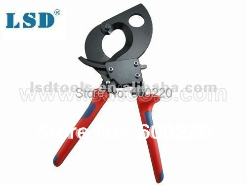 ФОТО LK-280 Ratchet Cable Cutter  for cutting copper-aluminum cables 380mm2/52mm diameter max  cable shear wire cutter