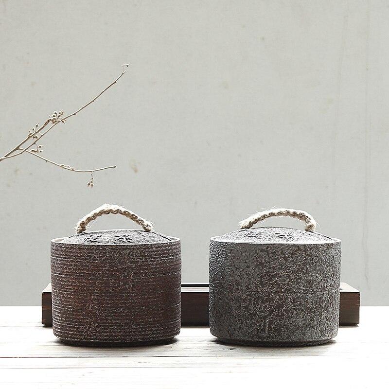 PINNY échelle de fer glaçure céramique pots à thé Style japonais thé Caddy Vintage Kung Fu thé Set fait à la main conteneurs de stockage