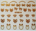 1pc Nail art 3D gold foil sticker Golden bow-knot sticker Harajuku short bride patch applique diy Nail Polish stickers nail tool