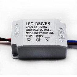 AC 85 v-265 v naar DC 9-12 v LED Elektronische Transformator Voeding Driver (1 -3) x1W LED Gelijkrichter Motor Driver Accessoires Benodigdheden