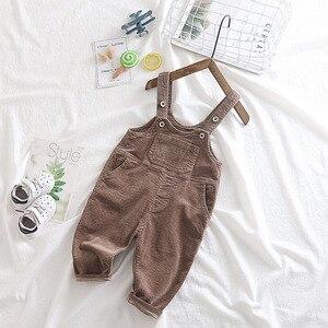 Image 3 - Macacão infantil, macacão veludo para meninos e meninas, puro algodão, 1 2 3 4 5 anos de idade, 2019 calças de bebê menino roupas