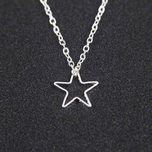 Simple Hollow Star Chain Choker Necklace Exquisite Pendant Clavicle Chain Necklaces for Women Collares Jewelry XL7268 2018 new simple popular electrocardiogram necklace for women fashion jewelry clavicle chain collares