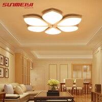 White Plafon Acrylic LED Ceiling Lights Flower Pattern Modern Luminaria Led Teto Indoor Ceiling Lamp For