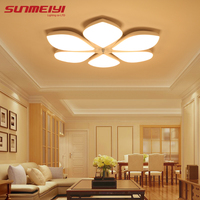 white plafon Acrylic LED Ceiling Lights Flower pattern modern luminaria led teto Indoor Ceiling Lamp For Living room Kitchen