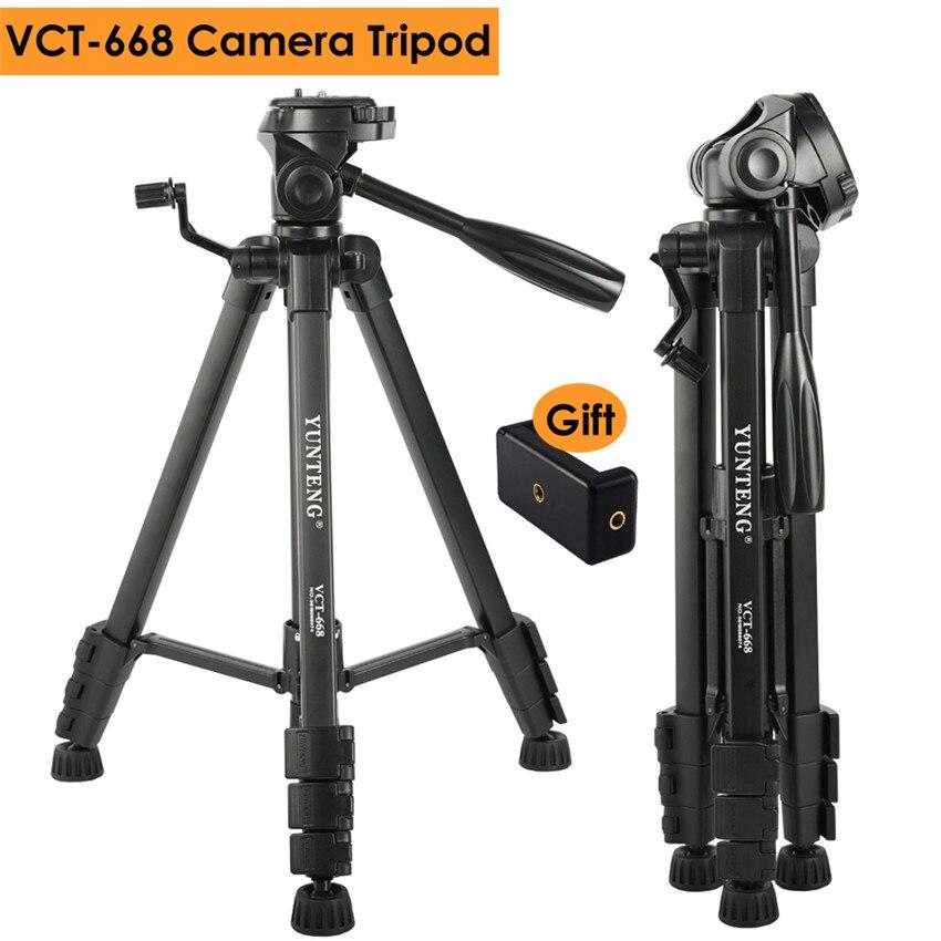 Photographie Pro DSLR Caméra En Alliage D'aluminium Trépied w/3-Façon Panneau Rotule pour Canon Nikon Sony REFLEX Max charge 3 kg, cadeau Téléphone Clip