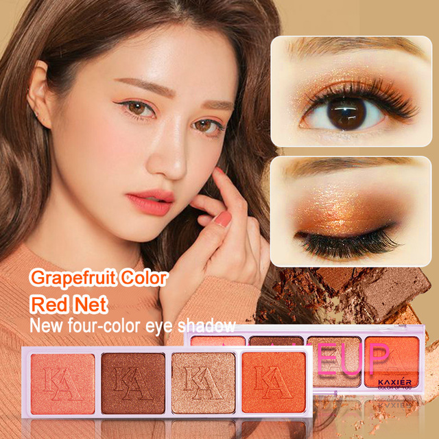 Stack Rub Little Fairy Orange Color Monochrome Eye Shadow Magnet Replace Matte Pumpkin Peach Makeup Wine