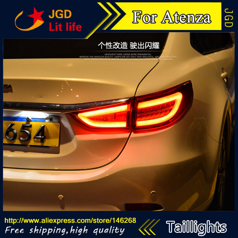 Car Styling tail lights for Mazda6 mazda Atenza 2014 2015 LED Tail Lamp rear trunk lamp cover drl+signal+brake+reverse car styling tail lights for ford ecopsort 2014 2015 led tail lamp rear trunk lamp cover drl signal brake reverse