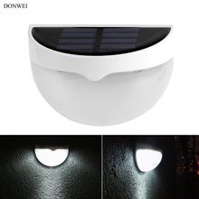 DONWEI открытый 6 светодиодный солнечный светильник автоматически открывается ночью водонепроницаемый светильник для крыльца для сада Забор на лужайке