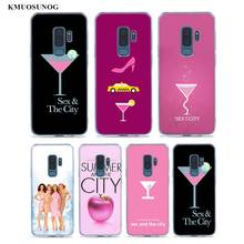 Transparent Soft Silicone Phone Case sex and the city For Samsung Galaxy S9 S8 Plus S7 S6 S5 Edge Note 9 8