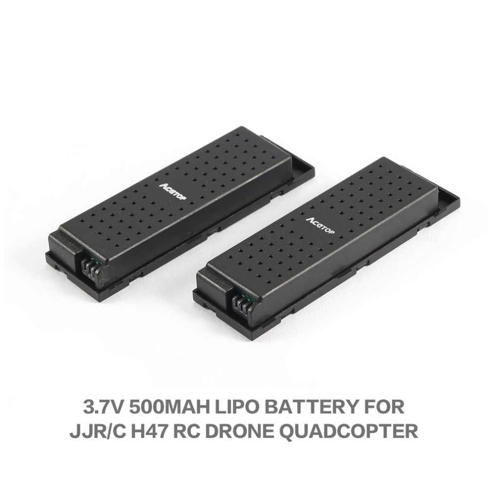 2 pièces Original 3.7V 500mAh RC avions Lipo batterie pour JJRC H47 Drone RC quadrirotor Wifi Drone batterie RC hélicoptères Batteries