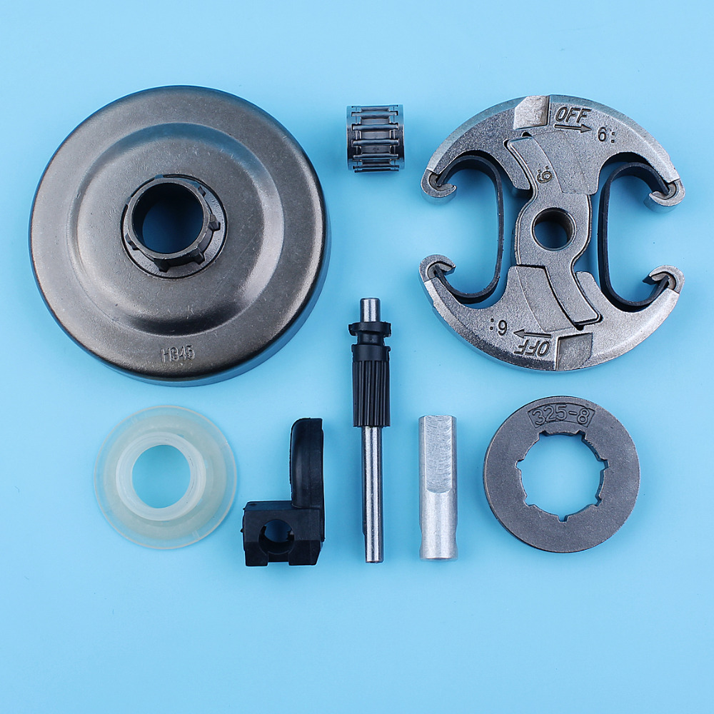Clutch Drum .325-8T Sprocket Rim Oil Pump Kit For Husqvarna 340 345 346XP 350 353 445 450 E/EPA Chainsaw Needle Bearing