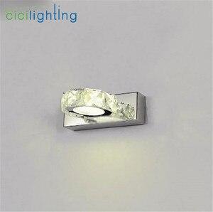 Image 4 - 110 220V L16cm 32cm 46cm 62cm 현대 욕실 K9 크리스탈 메이크업 라이트 화장실 전면 거울 벽 램프 정착물 led 크리스탈 미러