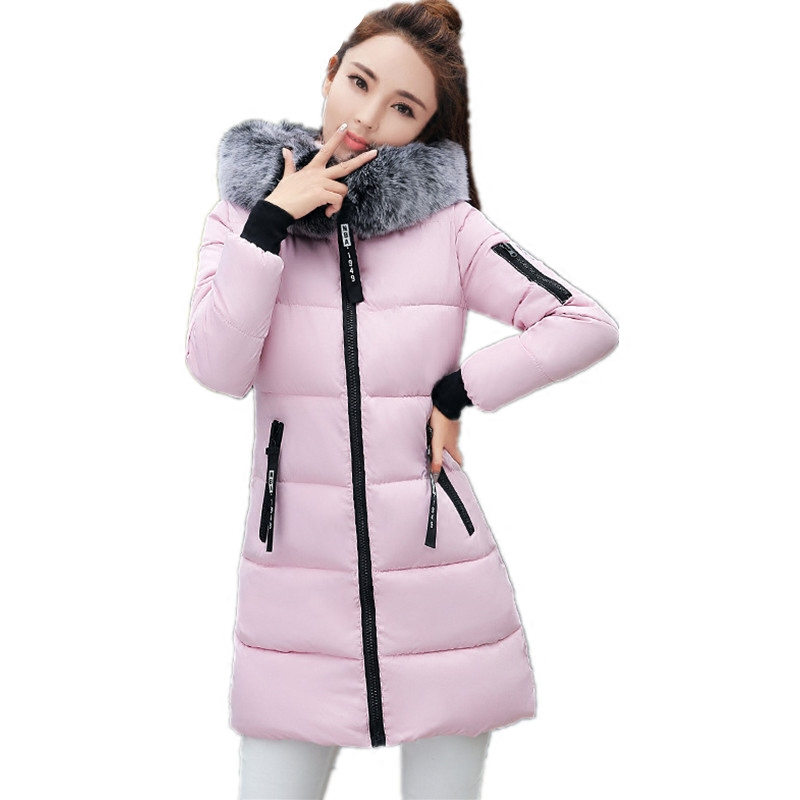 2017 New Women Long Winter Large  Fur Collar Hooded Woman Parka Womens Coats Thick Jacket Outwear Large Size  4xl