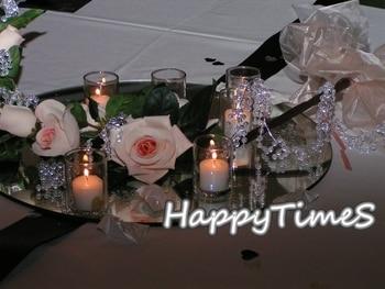 15pcs/lot Luxury Wedding Decoration 30cm Diameters Round Mirror Plate For Table Decoration Center Piece